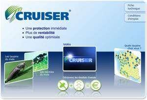Le Cruiser, un puissant insecticide contre les taupins et l'oscinie, fabriqué par Syngenta, décrit ici sur son site Web. Cliquez sur l'image pour y accéder.