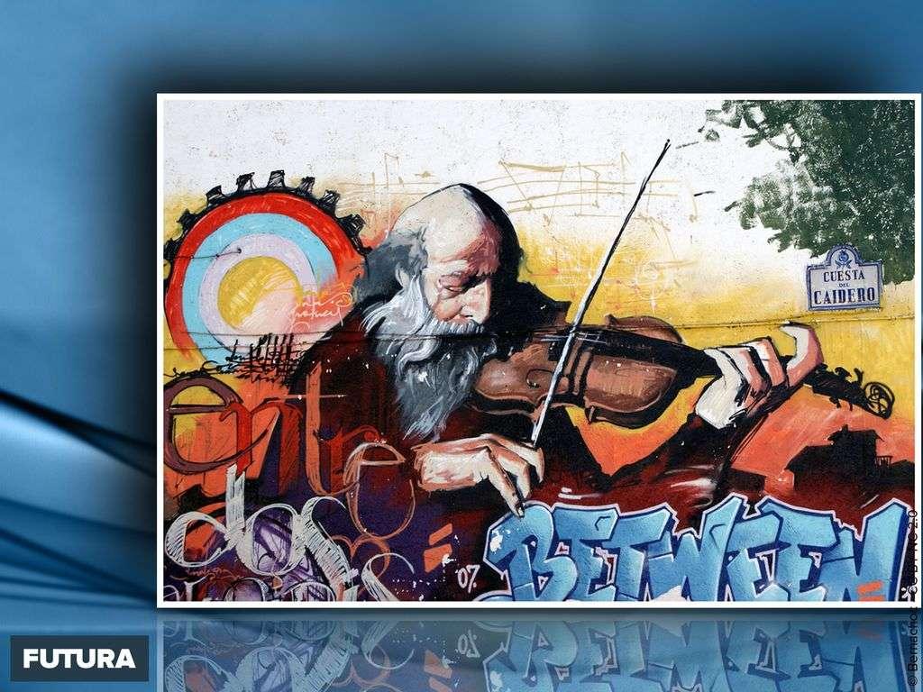 Street Art - Violoniste