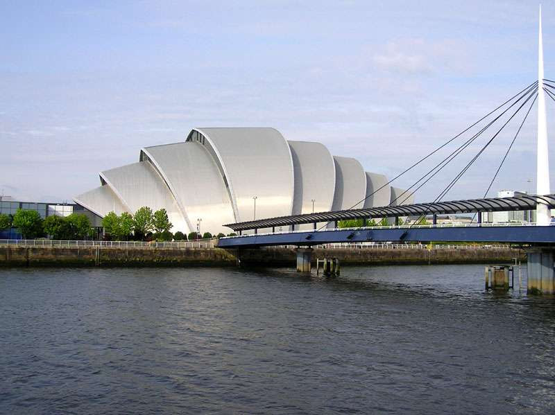 Le Clyde Auditorium de Glasgow, en Écosse