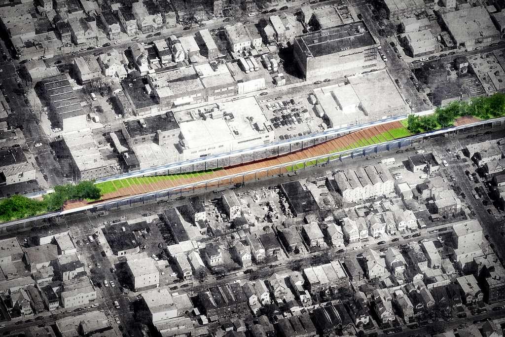 La piste cyclable Upside Down (New York, États-Unis). © Nooyoon, BYCS