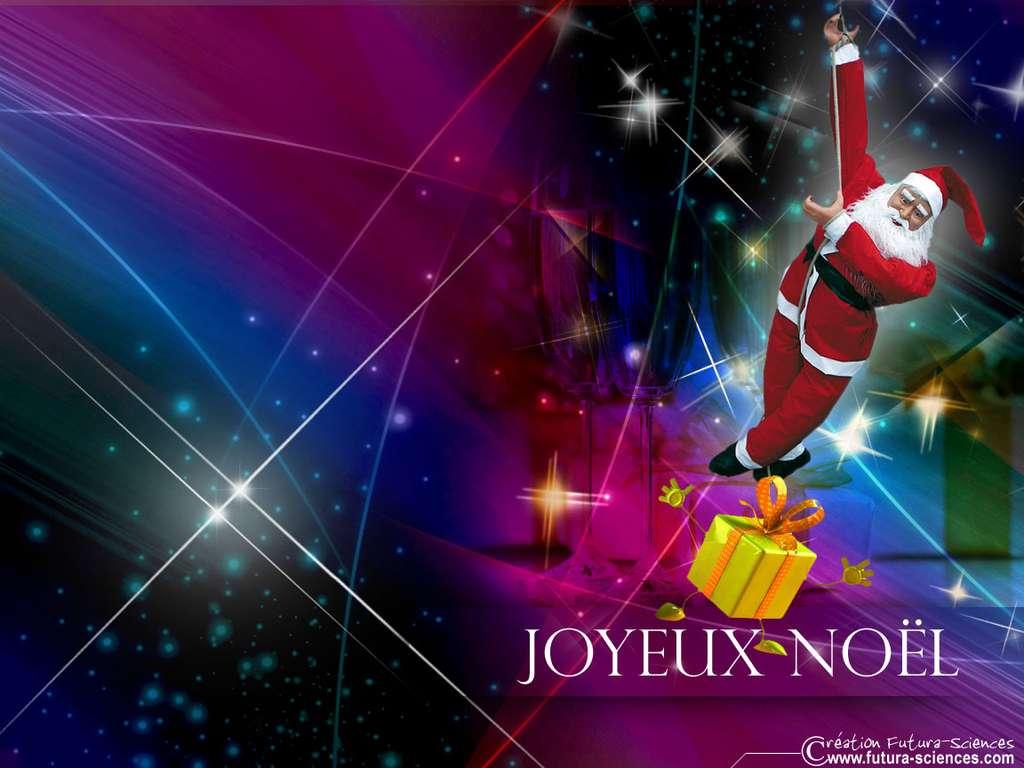 Le Père Noël est dans la cheminée