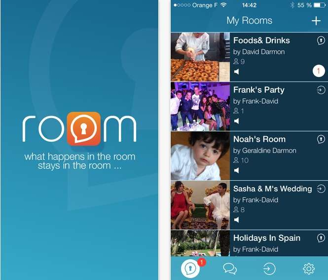 Facebook a-t-il commis un plagiat avec son application Rooms ? C'est ce qu'affirment deux développeurs français qui sont les auteurs de Room, une application iOS sortie en septembre dernier. © Room Inc