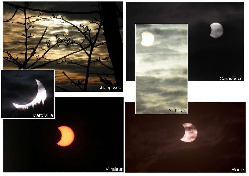 Un montage de quelques magnifiques clichés des internautes. © DR