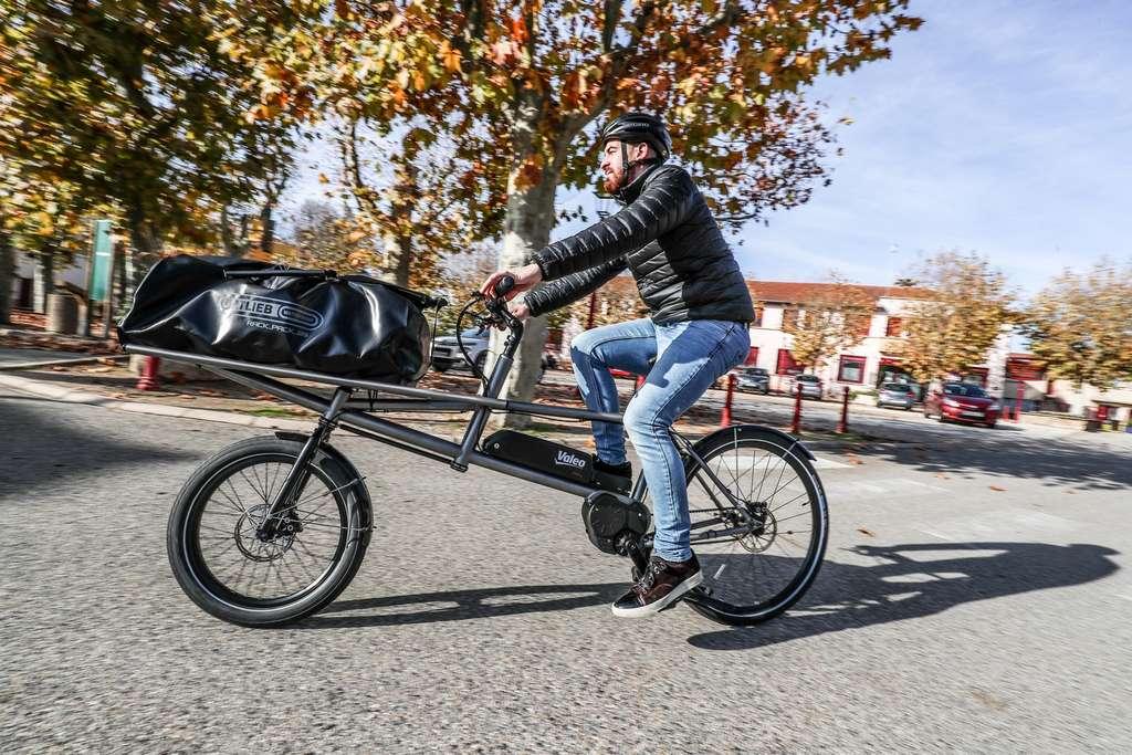 Le Smart e-Bike System de Valeo sur un vélo cargo. © Valeo