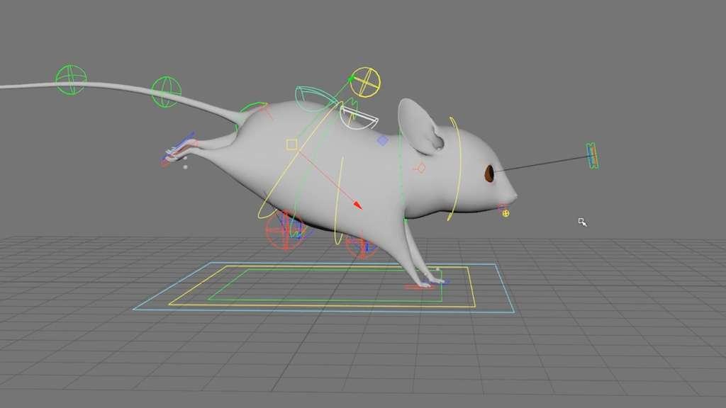Animation d'une souris sur un logiciel de modélisation pour le film intitulé Made in France (2017), réalisé par l'École supérieure des métiers artistiques (Esma). © Esma, Made in France (2017)