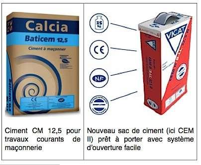 Deux catégories de ciment. © DR