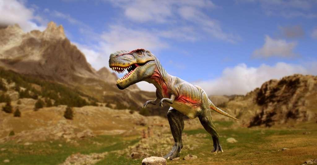 Le rapport isotopique de l'oxygène permet d'en savoir plus sur les dinosaures. Ici, Tyrannosaurus Rex. © Marcel Kunkel, CC by-sa 4.0