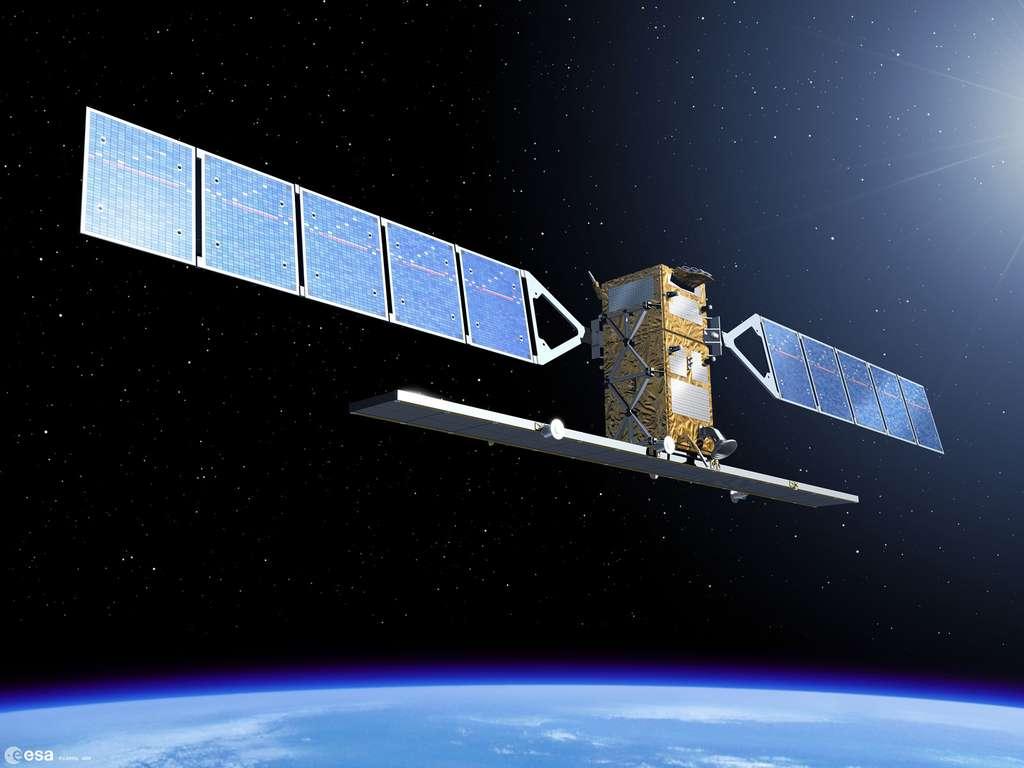Le Sentinel 1A utilisé pour tester le premier téléchargement d'images depuis l'espace grâce à une nouvelle liaison laser gigabit. © Esa