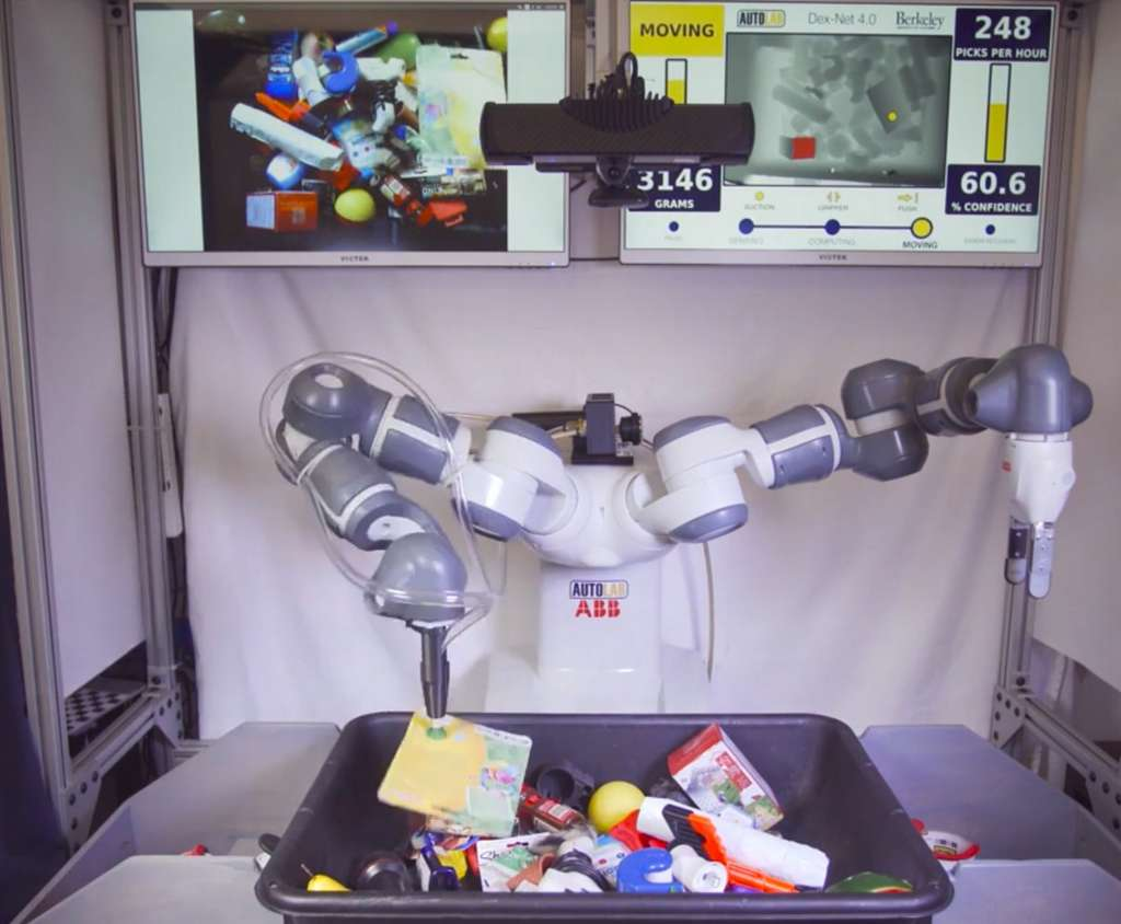 Le robot Dex-Net en train de trier des objets. © Berkeley university