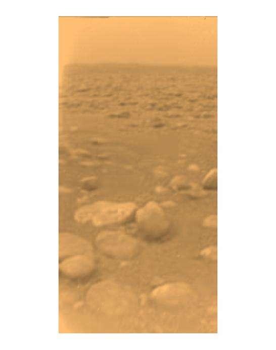 Première image de la surface de Titan
