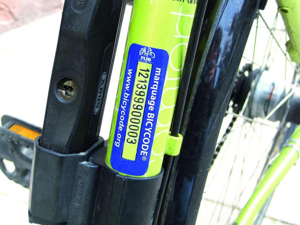 Le marquage Bicycode est recommandé par le ministère de l'Intérieur. © Bicycode