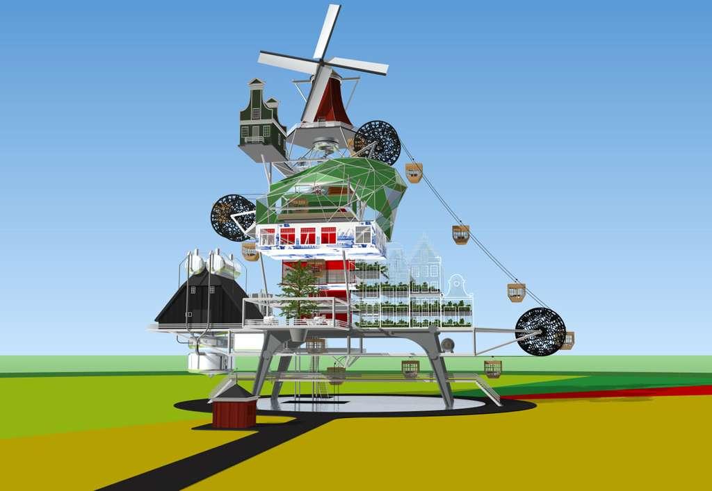La ferme du futur Oogst 1000 s'appuie sur les énergies renouvelables