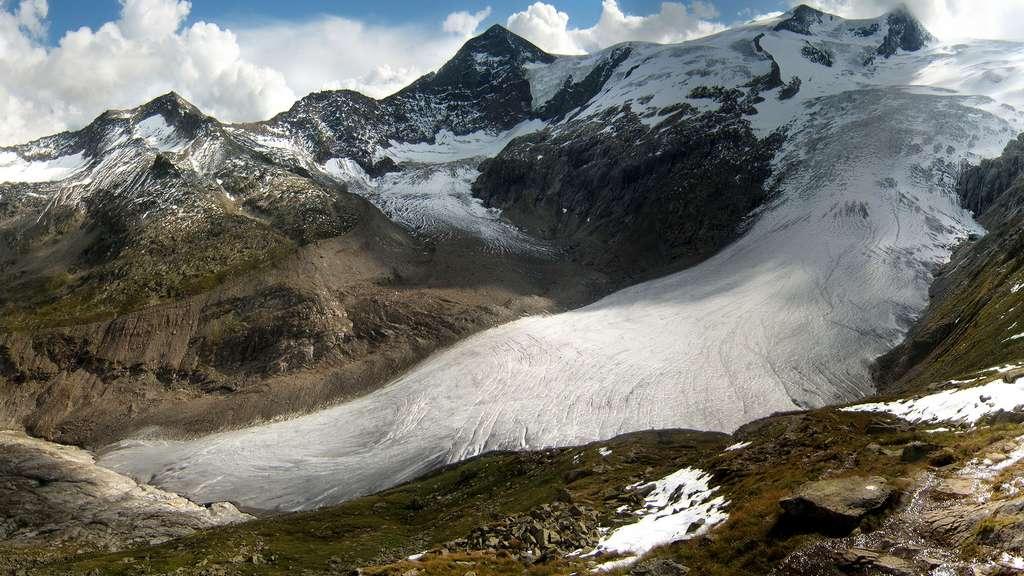Glacier Schlatenkees dans les Alpes