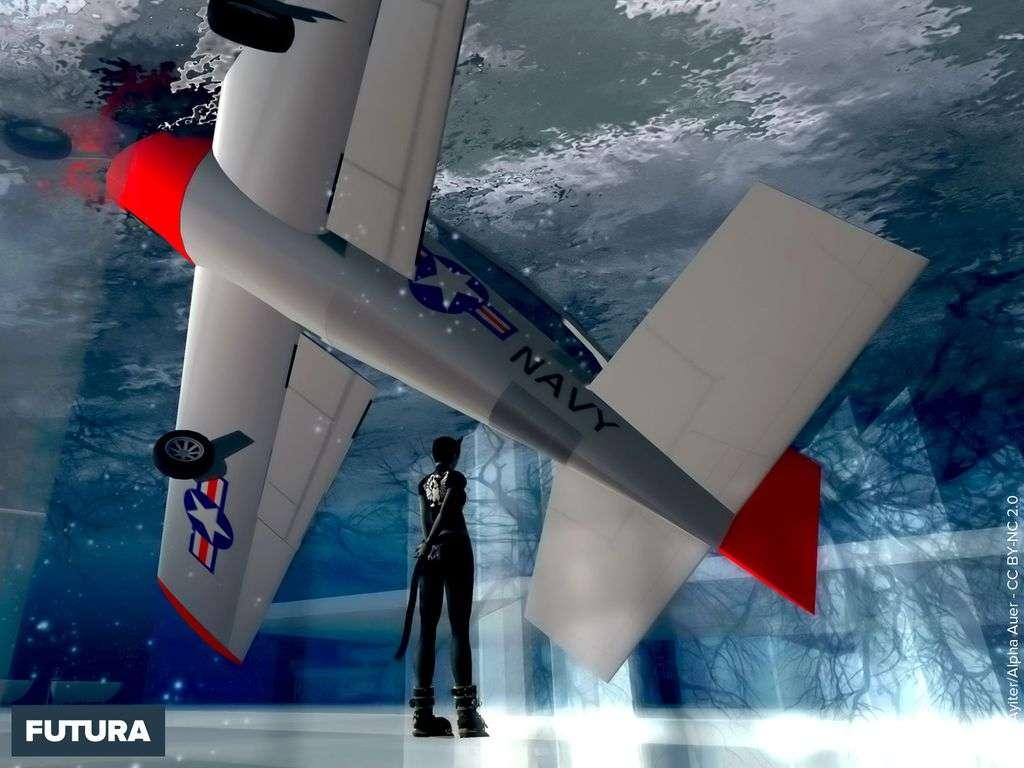 Avion dans les glaces