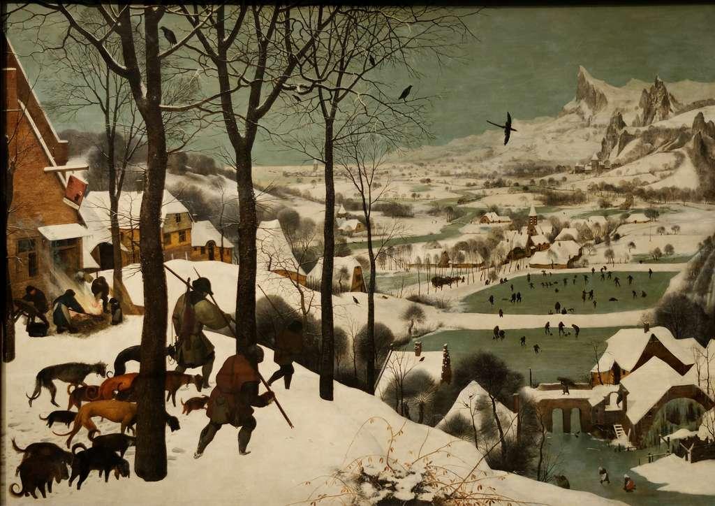 « Les chasseurs dans la neige » par Pieter Brueghel l'Ancien, en 1565. Musée d'Histoire de l'Art (Kunsthistoriches Museum), Vienne, Autriche. © Wikimedia Commons, domaine public
