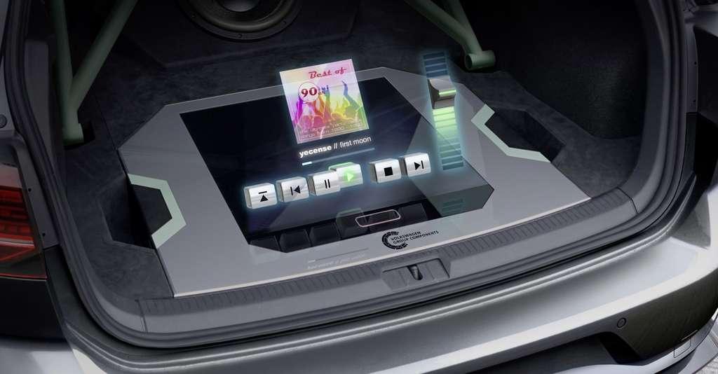 L'interface holographique de la Golf GTI Aurora de Volkswagen. © Volkswagen
