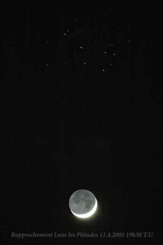 Rapprochement Lune-Pléiades