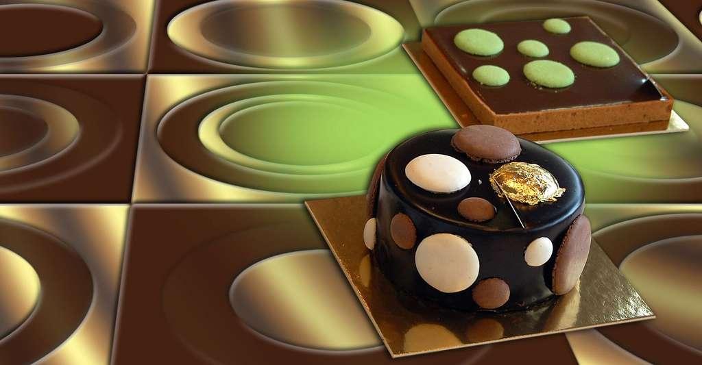 Gâteau menthe, chocolat, café. © SFBart, CC by-nc 2.0