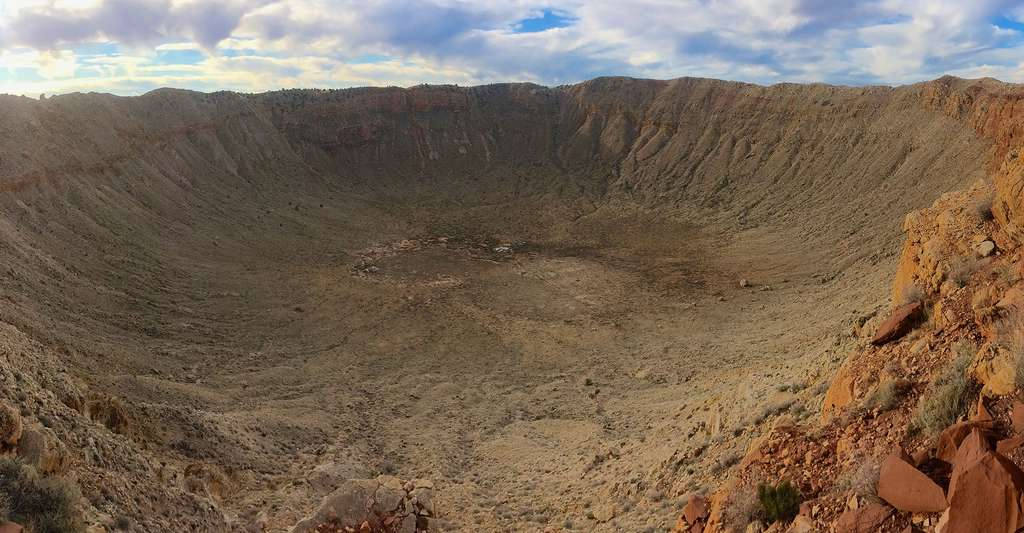 Le cratère Barringer Crater, aussi connu sous le nom de 'Meteor Crater, Arizona, USA. © Mike Peel CC-BY-SA-4.0
