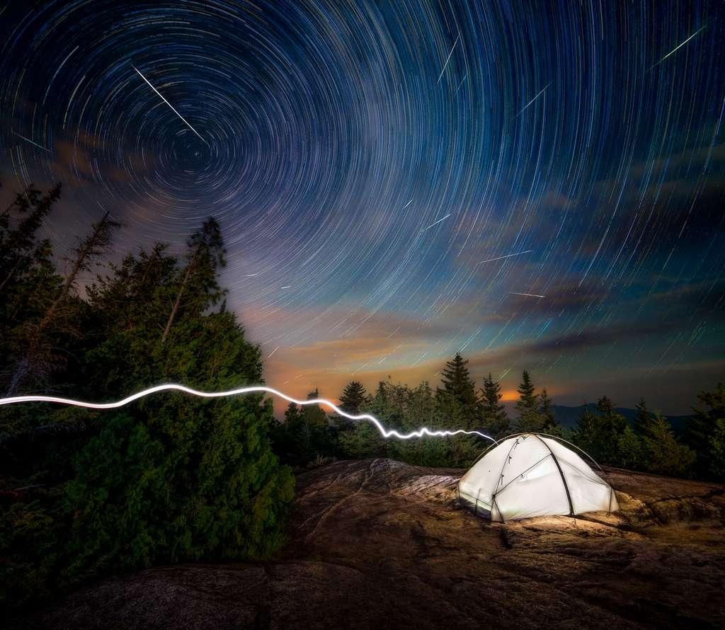 Perséides dans le massif d'Adirondacks