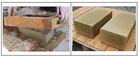 Fabrication de briques de terre crue d'adobe © lamaisondurable.com
