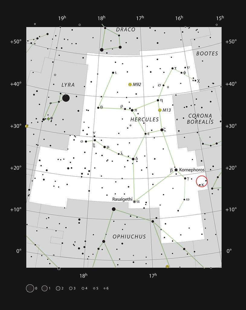 Le jeune amas de galaxies Abell 2151 se situe en bordure de la constellation d'Hercule. © ESO