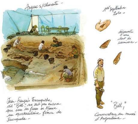 Le récit des fouilles... © Mazan