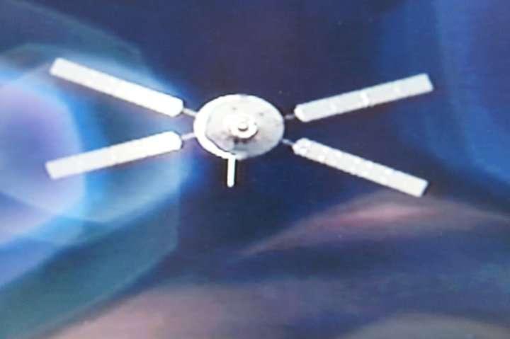 L'ATV-2 Johannes Kepler photographié depuis la Station spatiale internationale environ 1 heure avant l'amarrage. © Esa