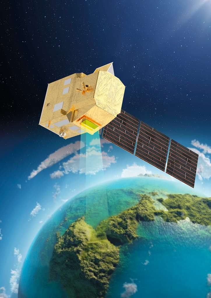 Copernicus Hyperspectral Imaging Mission for the Environment (CHIME), futur satellite Sentinel du programme Copernicus. © Thales Alenia Space