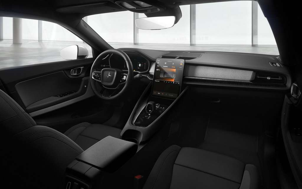 L'intérieur de la Polestar 2 est sans fioriture. © Volvo
