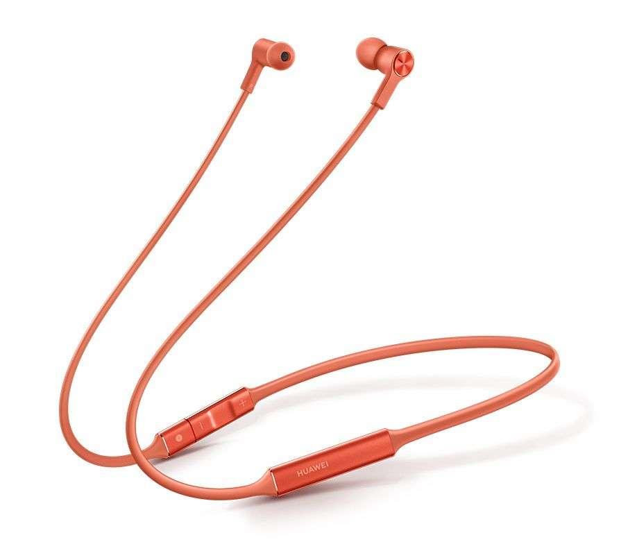 Astuce : le câble sert à recharger les écouteurs. © Huawei