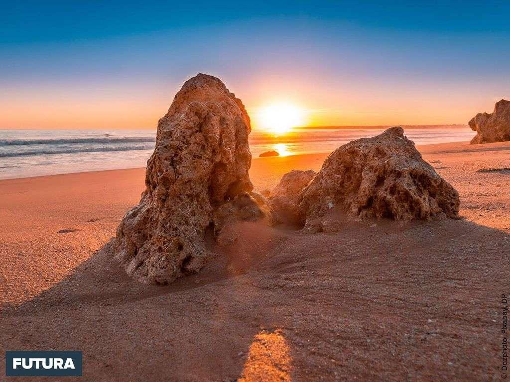 Portugal, coucher de soleil sur l'Algarve