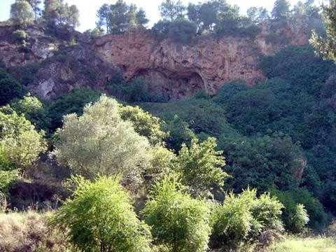 Vue générale de la grotte de Taforalt (Maroc oriental). © Jacques Collina Girard - Tous droits de reproduction interdits