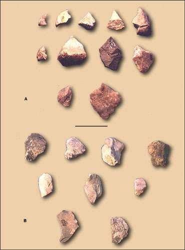 Fig.8 : Outillage lithique de la période Formative à Catamayo © J. Guffroy IRD