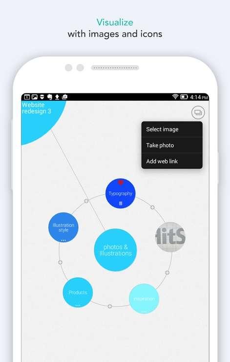Mindly permet de dresser de manière simple et intuitive des cartes mentales de vos projets. © Dripgrind