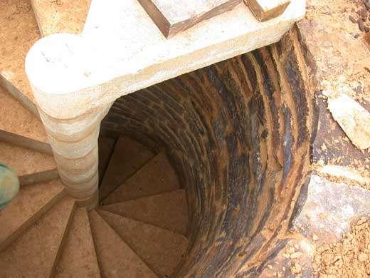 Escalier en vis © Photo Guédelon
