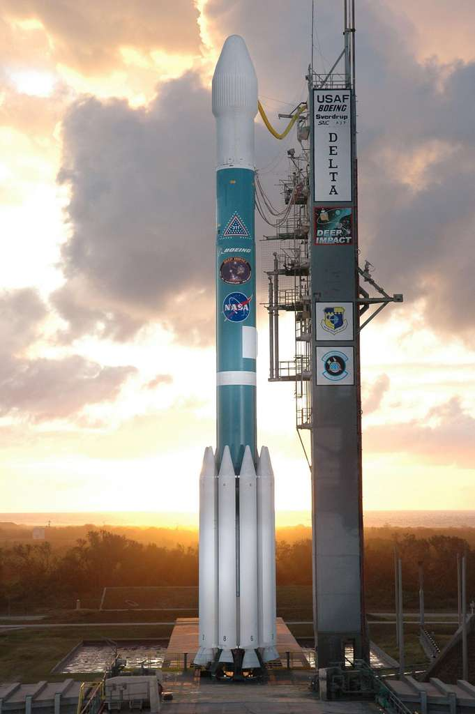 Deep Impact en attente dans une fusée Boeing Delta II