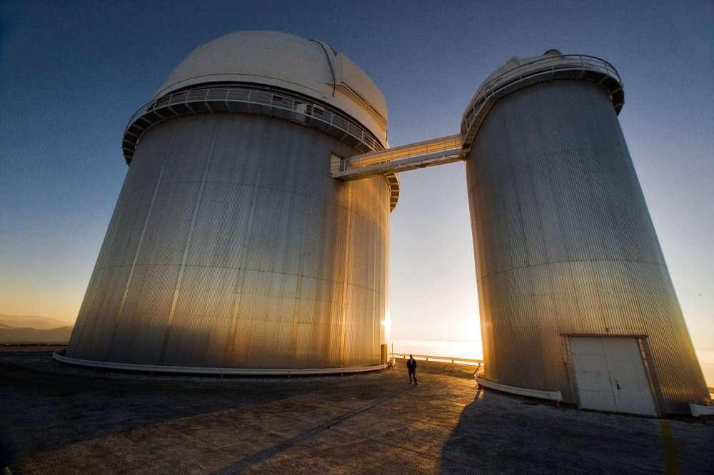 Le télescope de 3,60 mètres à La Silla, au Chili. © Iztok Boncina/ESO