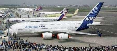 L'Airbus A380 au Bourget.
