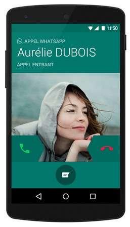 À l'instar de Skype ou Google Hangouts, WhatsApp permet de passer et recevoir des appels téléphoniques. © WhatsApp