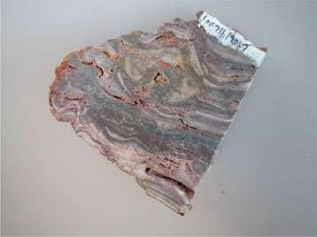 Silex du Groupe Jixian (Chine) d'âge protérozoïque (1,4 milliard d'années). La photo présente une lame mince de 30 micromètres d'épaisseur observée au microscope optique polarisant. Le champ d'observation, de 80 micromètres par 60 micromètres, révèle du quartz microcristallin qui est supposé avoir au mieux conservé les valeurs isotopiques des conditions de formation du silex il y a 1,4 milliards d'années et du quartz radiaire qui est le produit de remobilisation et de recristallisation de silice secondaire. Les caractéristiques techniques de la sonde ionique permettent d'analyser de façon spécifique les deux espèces de quartz. © Marc Chaussidon CRPG/CNRS