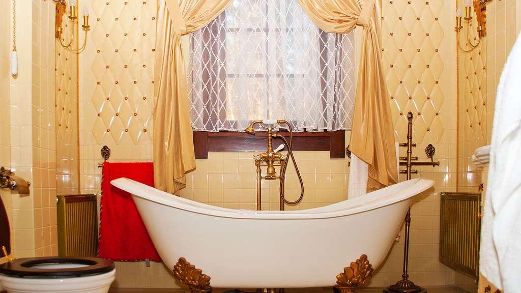 Une salle de bain vintage