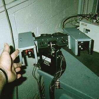 Le système de vision stéréoscopique de Nomad au banc. Crédit NASA/Carnegie
