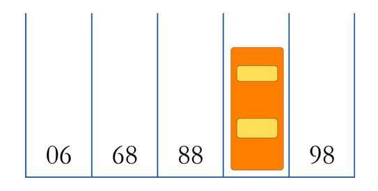 Selon vous, quel est le numéro de la place de parking caché sous la voiture orange? © Hervé Lehning