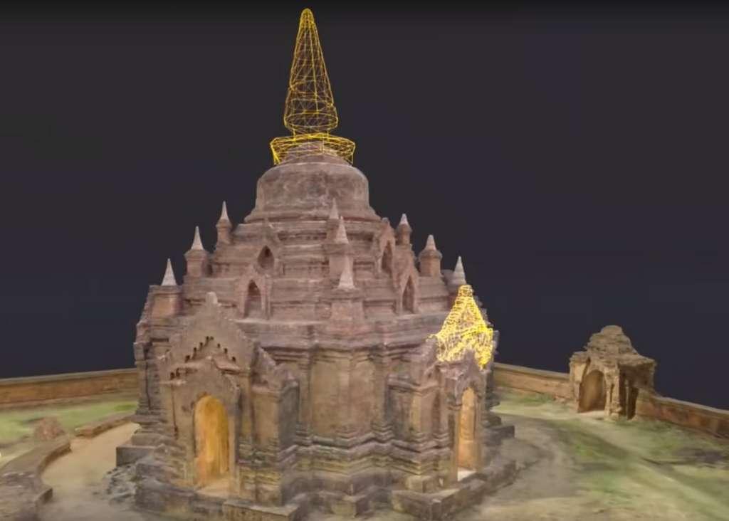 Le temple de l'Ananda, à Bagan, en Birmanie, est l'une des premières sauvegardes numériques réalisées dans le cadre du projet Open Heritage. © Google, CyArk