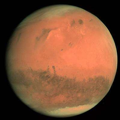 Mars vue par l'instrument OSIRIS (Optical, Spectroscopic, and Infrared Remote Imaging System) de Rosetta peu avant son survol. Crédit ESA.