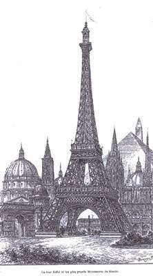 La tour, gravure de l'époque