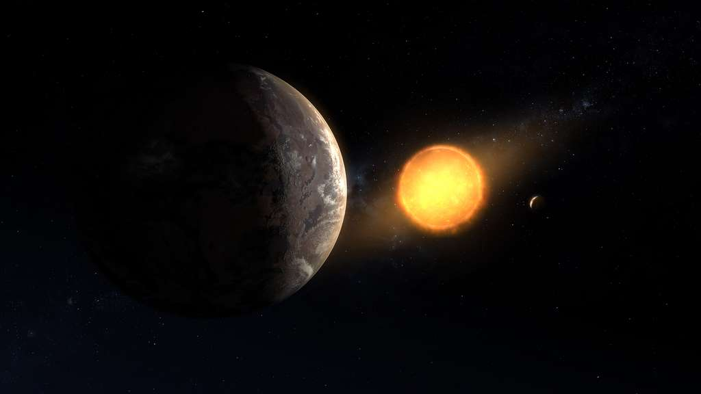 Vue d'artiste de Kepler-1649 c autour de son étoile. Sa taille est comparable à celle de Terre. © Nasa, Ames Research Center, Daniel Rutter