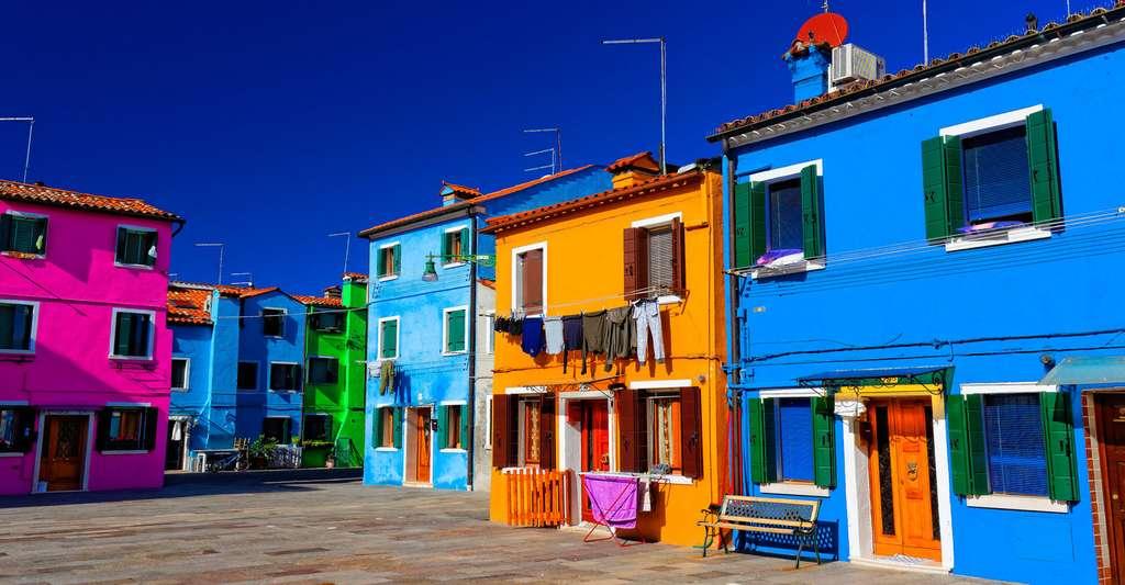 La couleur est partout. Ici des maisons typiques très colorées à Burano, en Italie. © Alexandre Poncet, CC by-nc 2.0