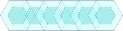 Déplacement des hexagones. © Hervé Lehning, tous droits réservés